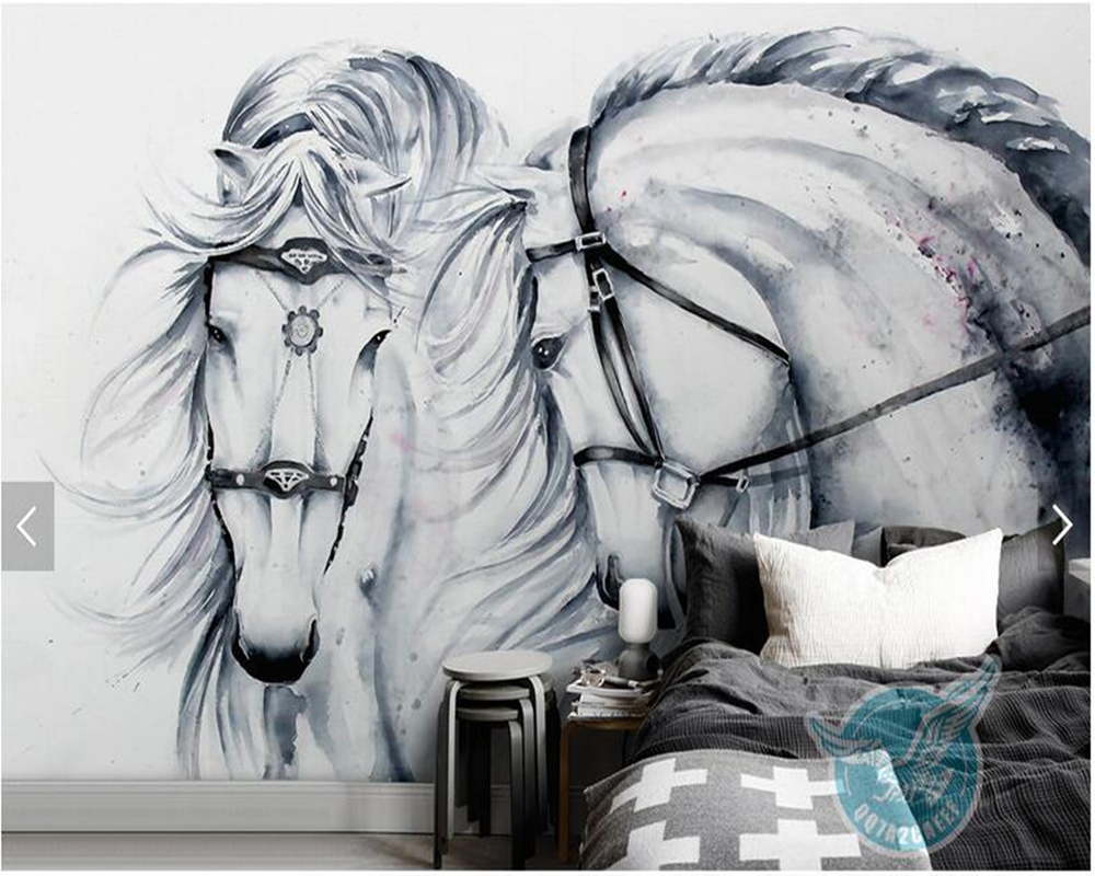 Custom photo wall paper, vintage horse painting murals for living room bedroom TV backdrop home decor wallpaper free shipping custom murals worn coloured wood wall mural bedroom living room tv backdrop wallpaper