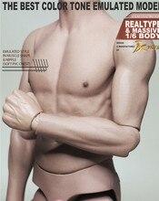 лучшая цена New 1/6 Scale Male Body Figure Military Muscular Body Narrow Shoulder Man Body S01 Flexible for 12