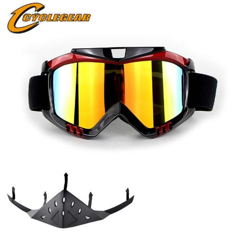 Brand High Quality Cycling Skiing Goggles With Nose Protector For Motocross Helmet Cyclist Motorcycle Eyewear Riding Glasses|Motorcycle Glasses| |  - title=