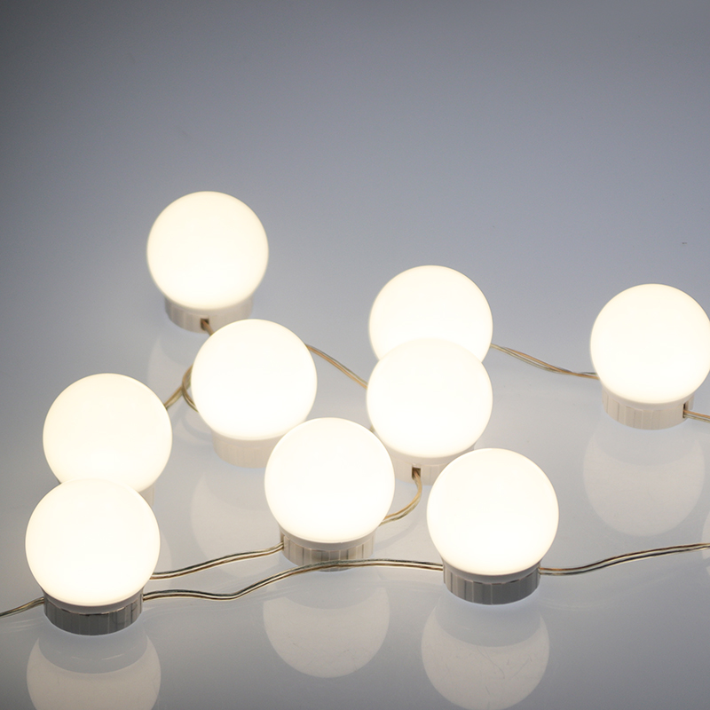 Купить с кэшбэком [LTOON]LED Vanity Mirror Lights Kit with Dimmable Light Bulbs,Lighting Fixture Strip for Makeup Vanity Table Set