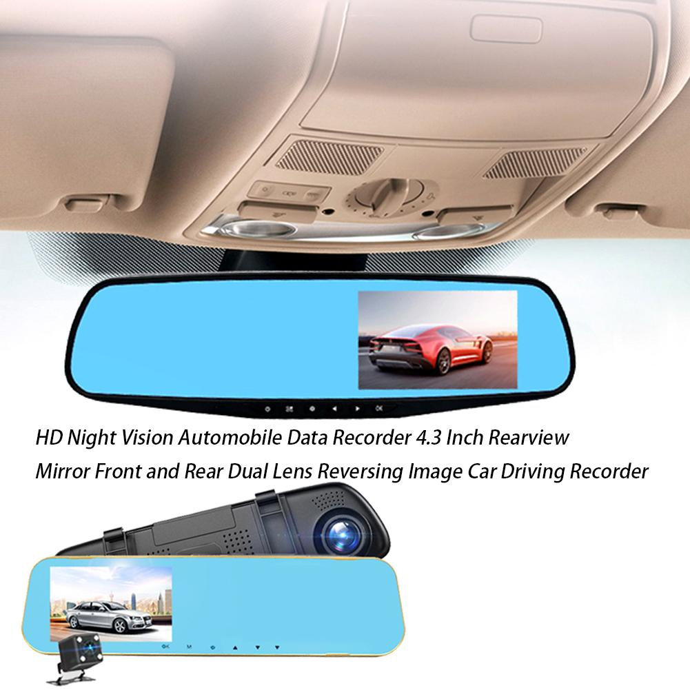 Rearview-Mirror Data-Recorder Automobile Dual-Lens Night-Vision And Front HD Reversing-Image