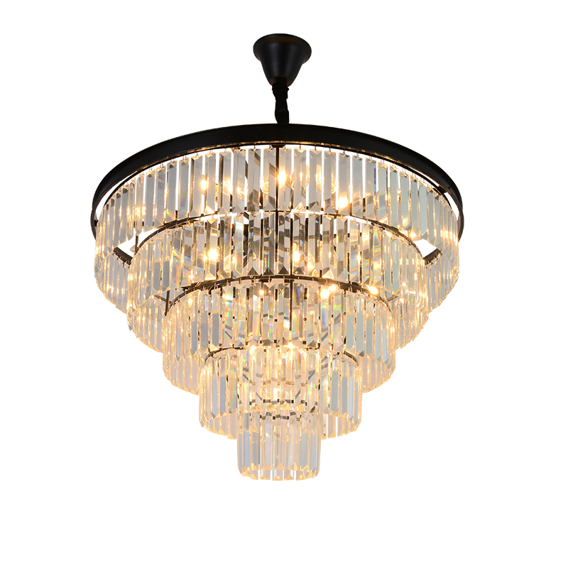 American Iron Chandelier Living Room Restaurant Bedroom Light Black Retro Crystal Light Modern Simple Hanging Lamps led lamps crystal candle lamps modern crystal chandelier living room hanging lighting bedroom ceiling restaurant led chandeliers