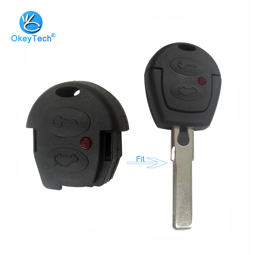 OkeyTech Replacement Fob 2 Button Auto Cover Case Part (Not Include Blade) Car Key Shell For Volkswagen VW Jetta Polo Golf Seat