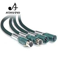 ATAUDIO Silver Plated Hifi XLR Cable Hi end 2 XLR Male to Female Audio Cable