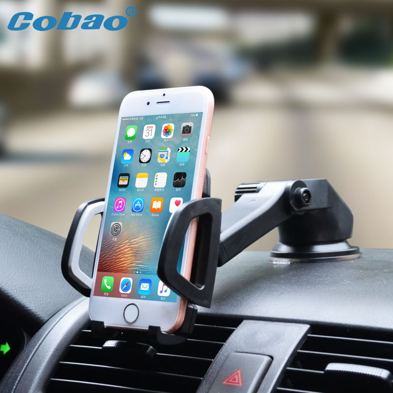 Cobao Universal Car Mobile Phone Holder Stand Dashboard Windshield Sticky Cell Phone Holder for iPhone Support Samsung GPS