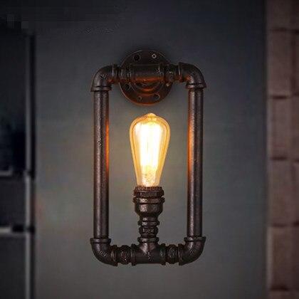 Américain Style Vintage Paroi de la Conduite D'eau Lampe Loft Industriel Personnalité Creative Couloir Restaurant Bar Rouille Mur De Fer Lumière