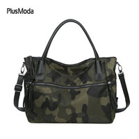 2017 Winter Women Handbags Waterproof Oxford Shoulder Bag Larget Capacity Tote Bags High Quality Camouflage Style