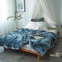 Thick Flannel Blanket Sheets Cloud Velvet Blanket Gift Single Double Blanket Coral Fleece Nap Blanket