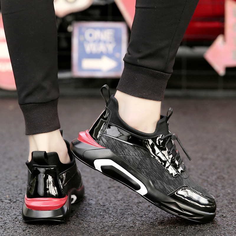 Spring Summer Casual Shoes Men Flats Black Sneakers Men 2019 Mens Trainers Black Loafers Tenis Masculino Chaussure Homme in Men 39 s Casual Shoes from Shoes