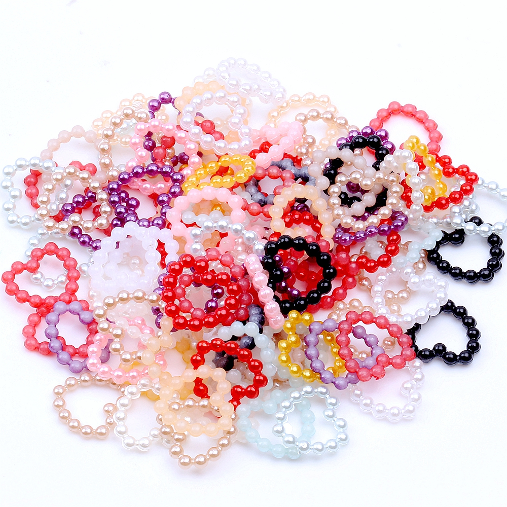 Beads Beads & Jewelry Making Beautiful 100pcs/lot Multicolor 11mm Imitation Pearl Hollow Heart Shape Half Round Flatback Beads For Diy Jewelry Scrapbooking Cardmaking Online Discount