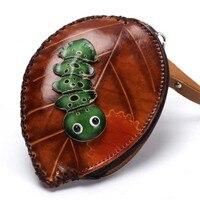 YISHEN Genuine Leather Fashion Cartoon Pattern Coin Purse Women Mini Wallets Men Card Holder Bags Small