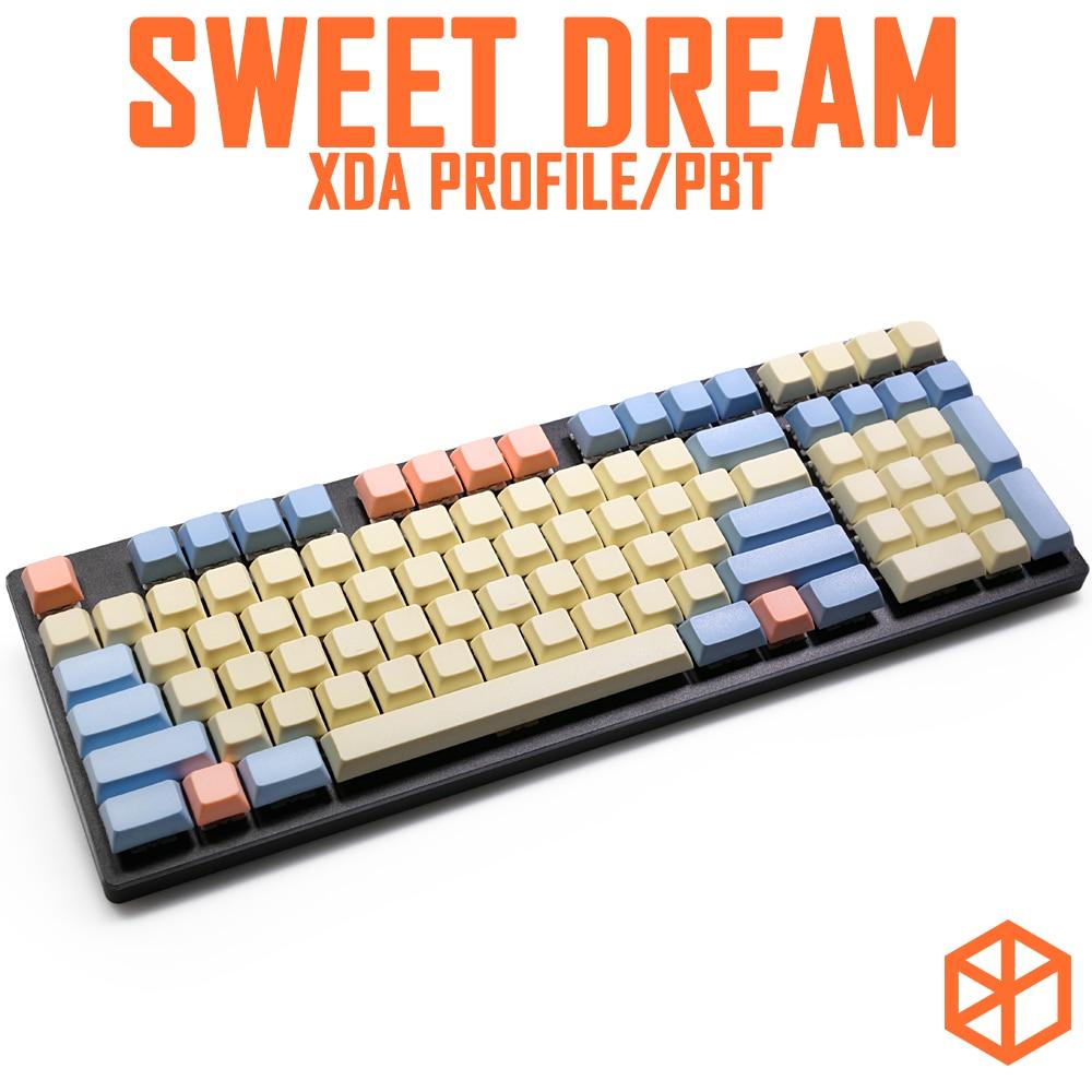 WEST WORLD PBT Dye sub keycap XDA profile for mechanical keyboard XD64 GH60 87 TKL 104