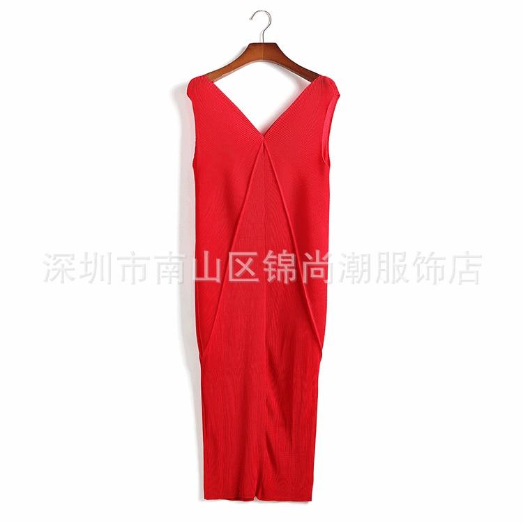 En V Robe Tempérament Sans rouge Fold Stock cou rose Grands Gratuite Noir bleu Manches Chantiers Livraison Red w1xvtqgCC