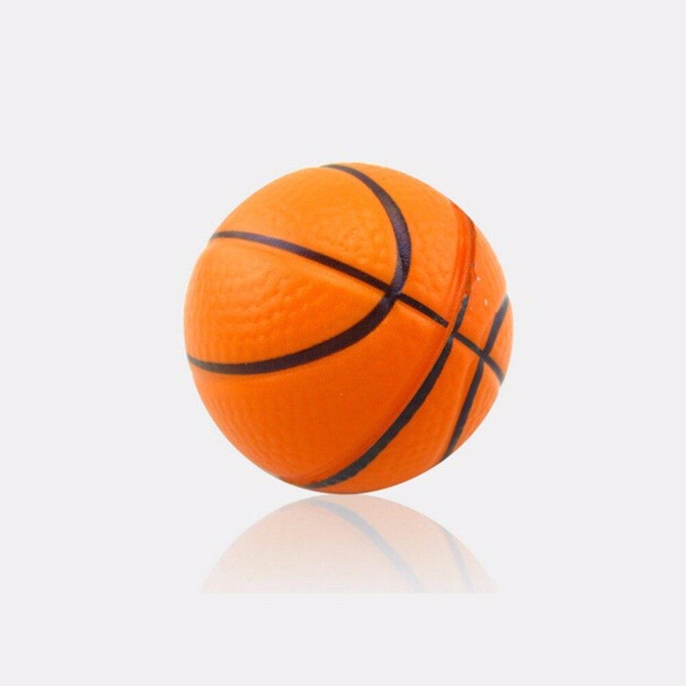 esmagá lo apertando bola dos desenhos animados mini mão basquete