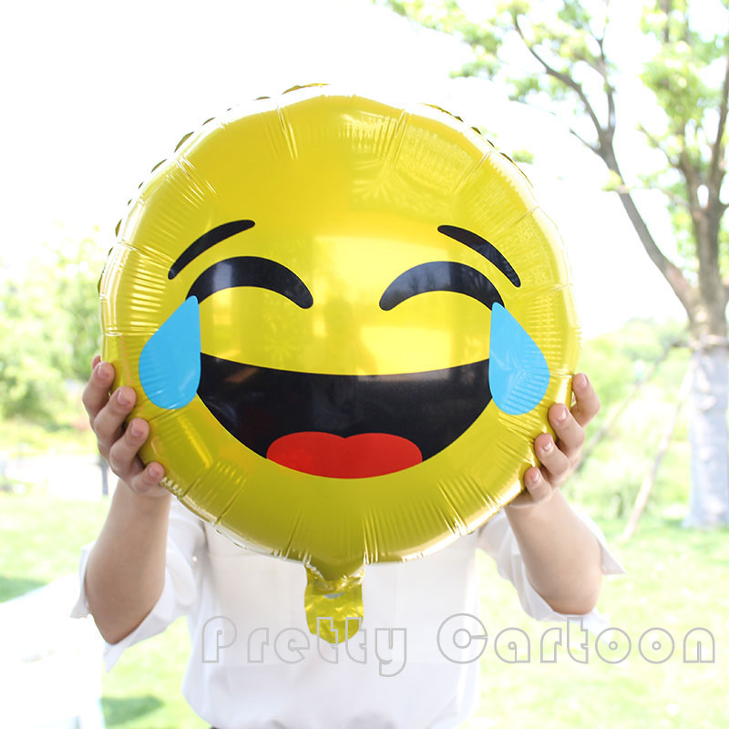 10pcs Lot 4545cm Smile Cry Expression Balloons Emoji Foil Ballon For Birthday Party Decoration Supplies Helium Globos Toys In Ballons Accessories From