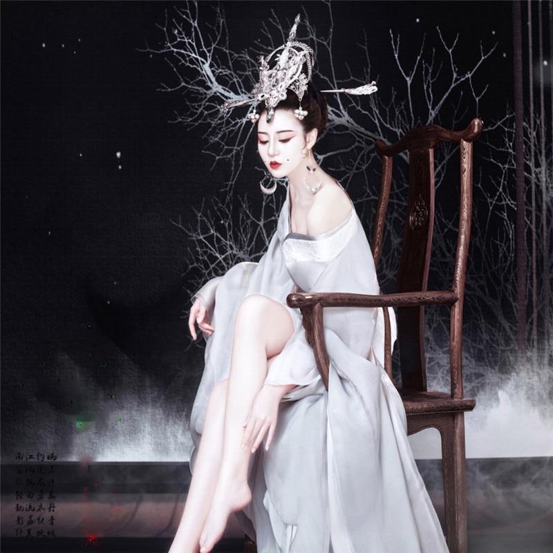 Ban Mian Zhuang Women's Hanfu Costume Photo House Thematic Photography Costume Tang Princess Performance Hanfu