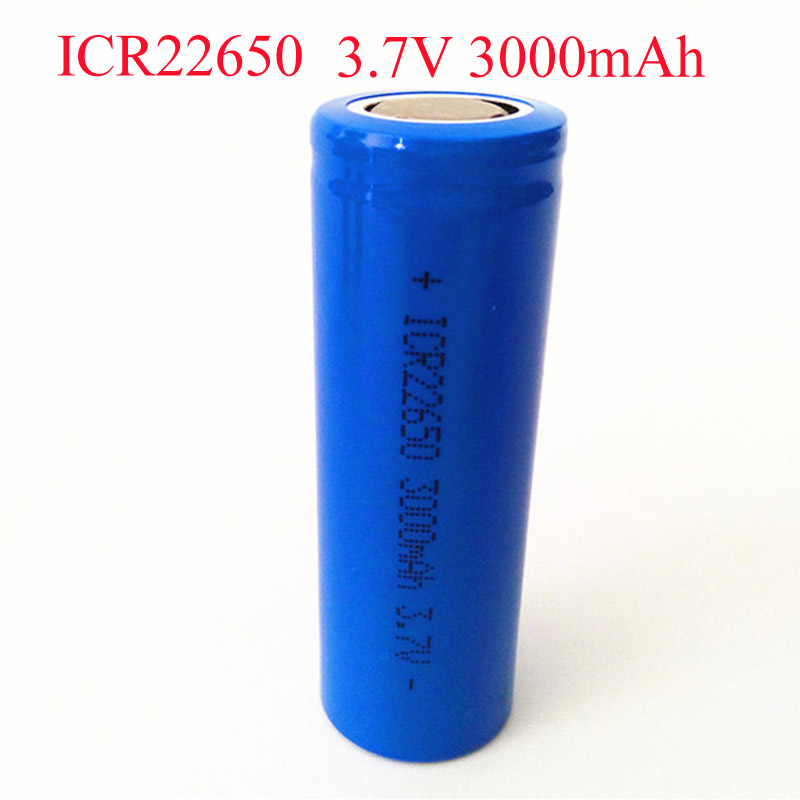 SORAVESS 3.7V 22650 Li-ion Battery 3000 mAh ICR22650 ion Rechargeable Lithium For Speaker LED flashlight Torch image