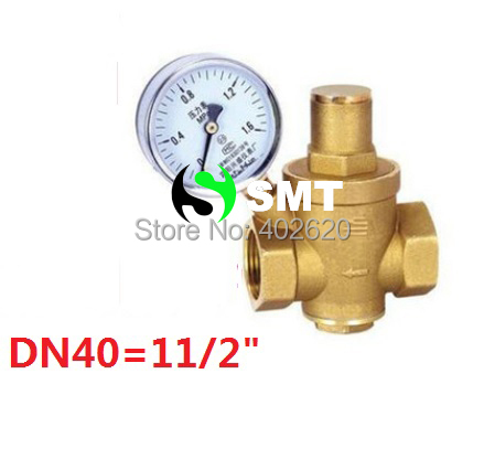 free shipping DN40 Brass water pressure regulator with gauge,11/2'' pressure maintaining valve,water pressure reducing valve prv 2dn50 brass water pressure regulator without gauge pressure maintaining valve tap water pressure reducing valve