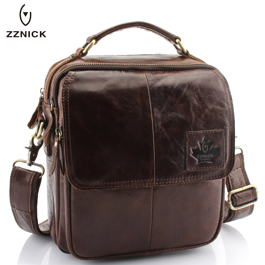 ZZNICK 2018 New Genuine Cowhide Leather Men Bags Crossbody Shoulder Bag Handbags Design Men Messenger Bag Fashion Men Briefcases zznick 2018 new men s messenger bag men genuine leather business bags laptop tote briefcases crossbody bag shoulder handbags