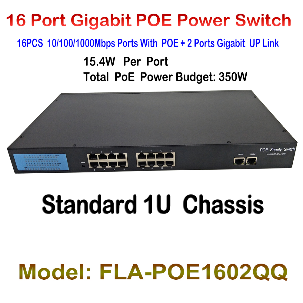 New 16ch Ports POE Fast Ethernet Switch with 2ch gigabit Auto up link switch RJ45 Network LAN Switcher 48V POE Power Supply cd диск coldplay a head full of dreams 1 cd