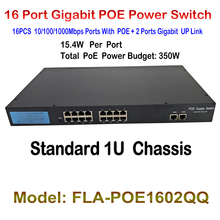 New 16ch Ports POE Fast Ethernet Switch with 2ch gigabit Auto up link switch RJ45 Network LAN Switcher 48V POE Power Supply