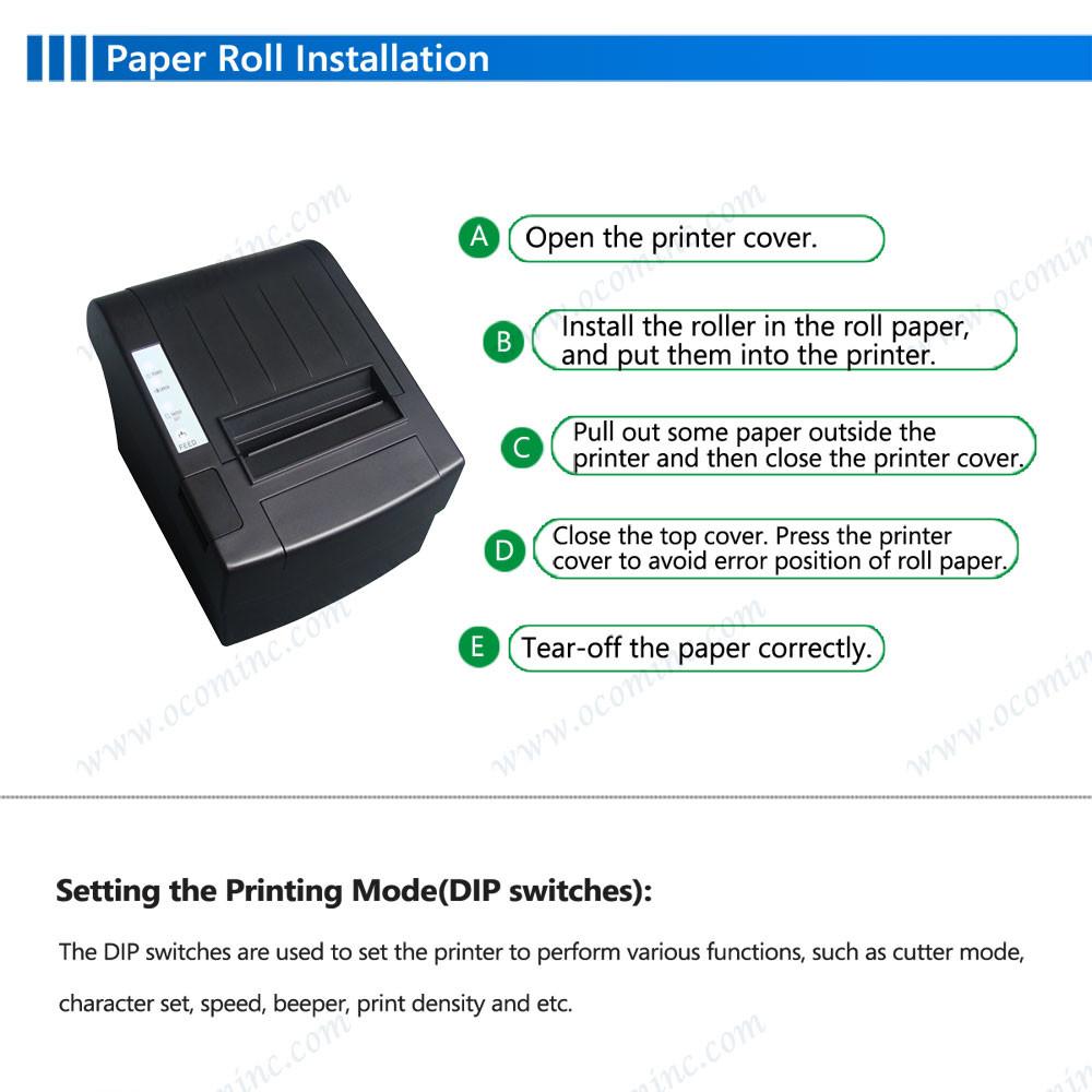 06 80mm thermal bill printer