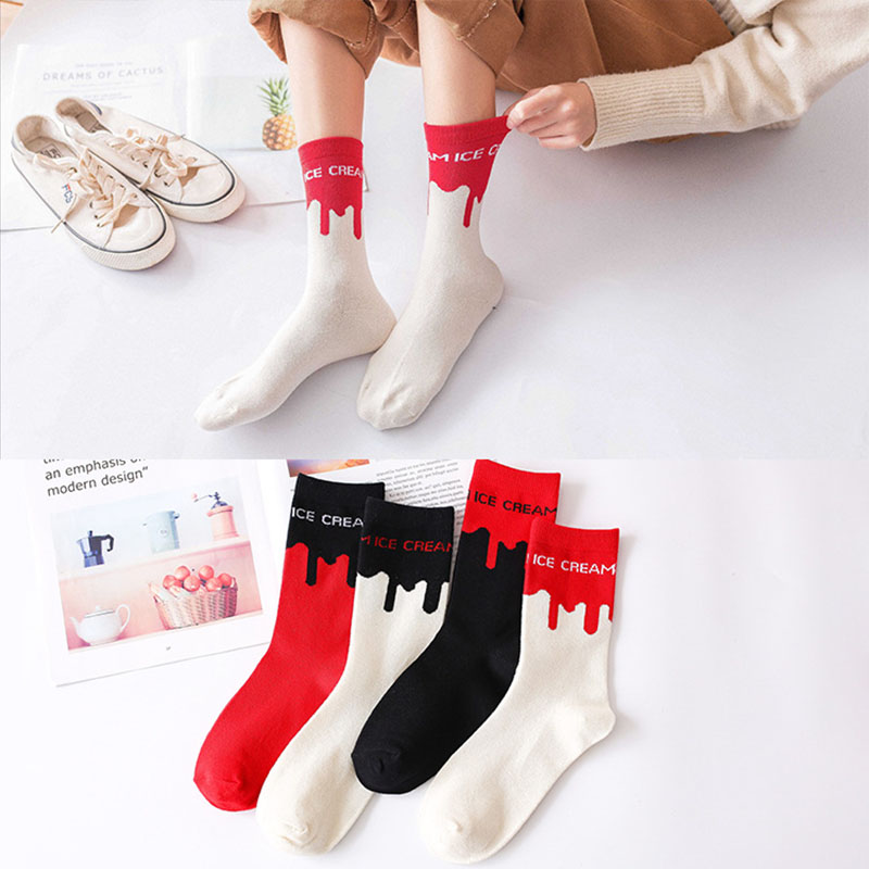 2019new Street Style Letter Socks Fashion Ladies Tube Socks Ladies College Socks