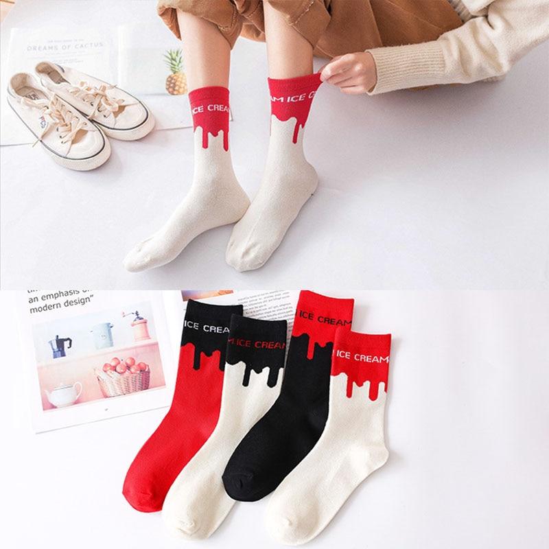 2019new Street Style Letter Socks Fashion Ladies Tube Socks Ladies College Socks