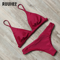RUUHEE Bikini Swimwear Women Swimsuit Bathing Suit Sexy Brazilian Push Up Beach 2017 Bikini Set Maillot