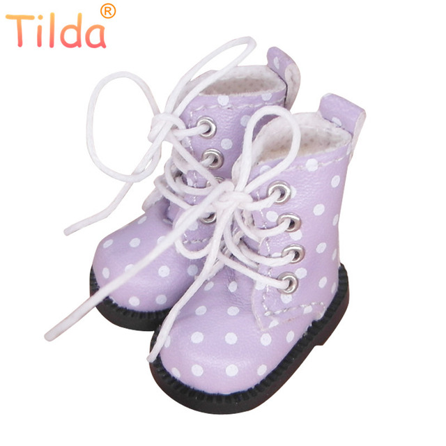 f7fe082fb7326 US $7.41 49% OFF Tilda 1/6 Doll Boots Toy Shoes For Blythe Pullip Doll,4cm  Mini Winter Leather Boots Shoes for Blyth Accessories for Dolls Toys-in ...