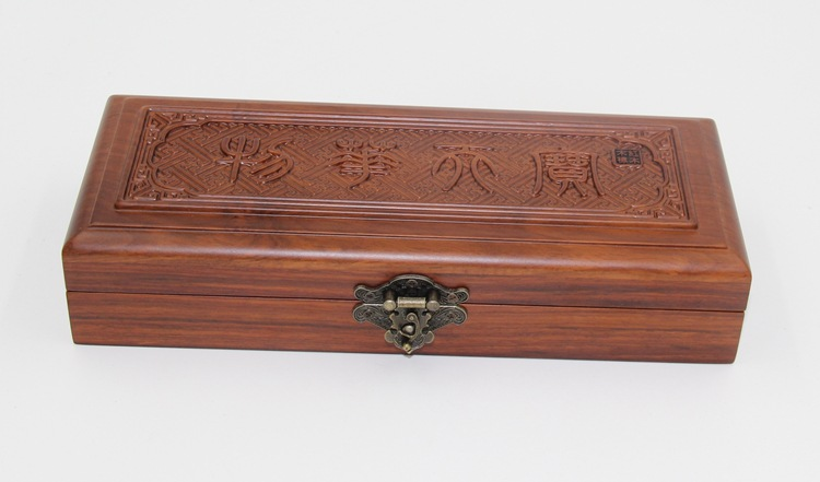 African rosewood mahogany box upscale jewelry box carved for Custom jewelry packaging manufacturers