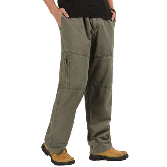 Men's Cargo Pants Casual Loose Military Tactical Pants Multi-Pocket Overall Sporting Baggy Male Long Trousers Plus Size 5XL 6XL 1