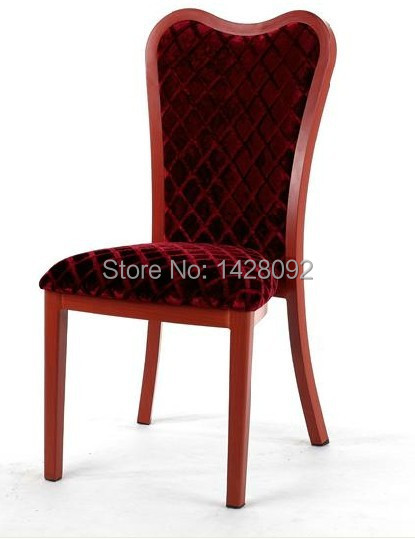 woodgrain aluminum upholstered restaurant chair LQ-L805