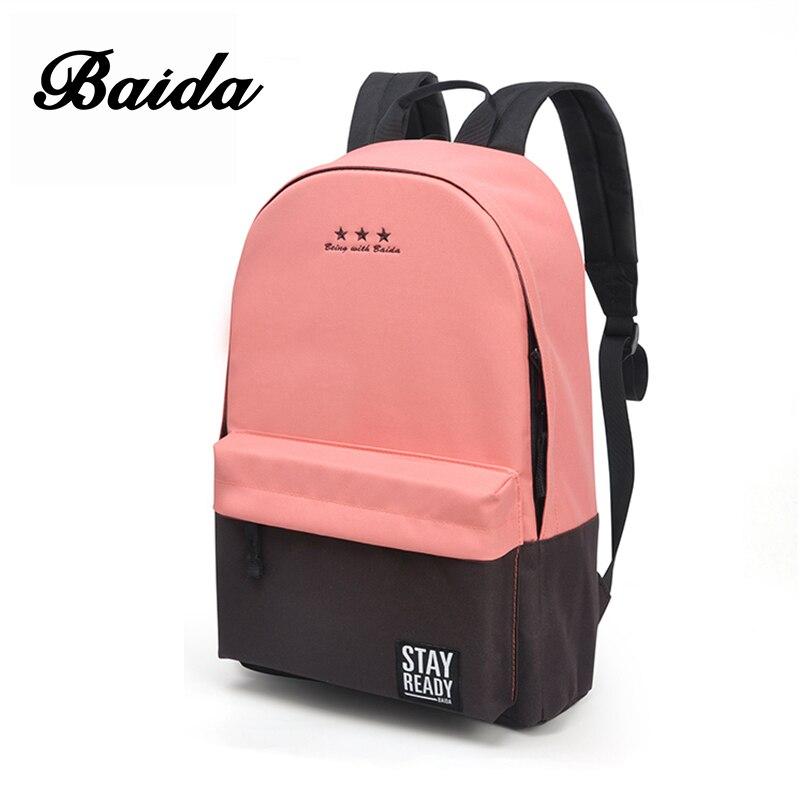 Mochila de moda de ocio de las mujeres mochila coreano señoras mochila Casual bolsas de viaje para la Escuela de las niñas adolescentes clásico mochila