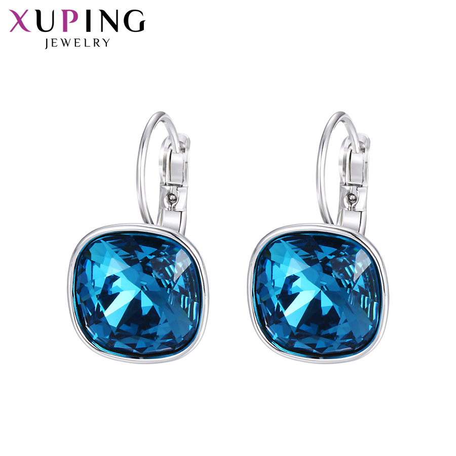 11.11 Deals Xuping Fashion Earrings Wedding Gifts Crystals from Swarovski Colorful Charm Drop Earrings for Women Gifts