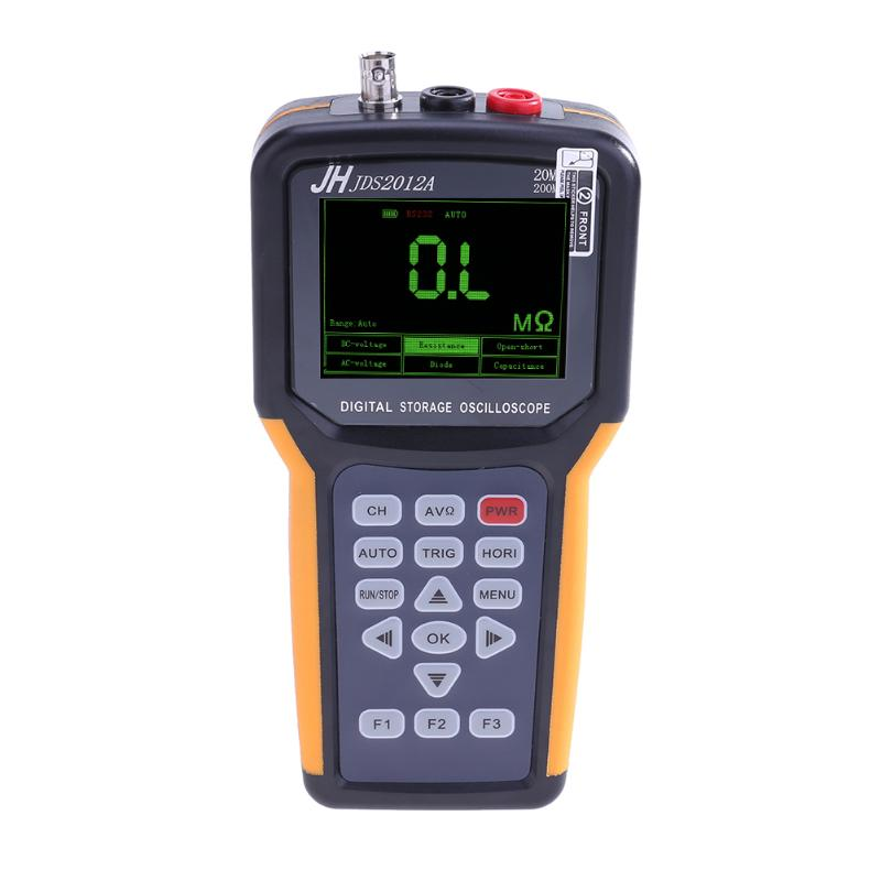 Portable 20MHz 200MSa/s 4000 Counts Multimeter Oscilloscope Scope Meter осциллограф jds2022a 20m 200msa s