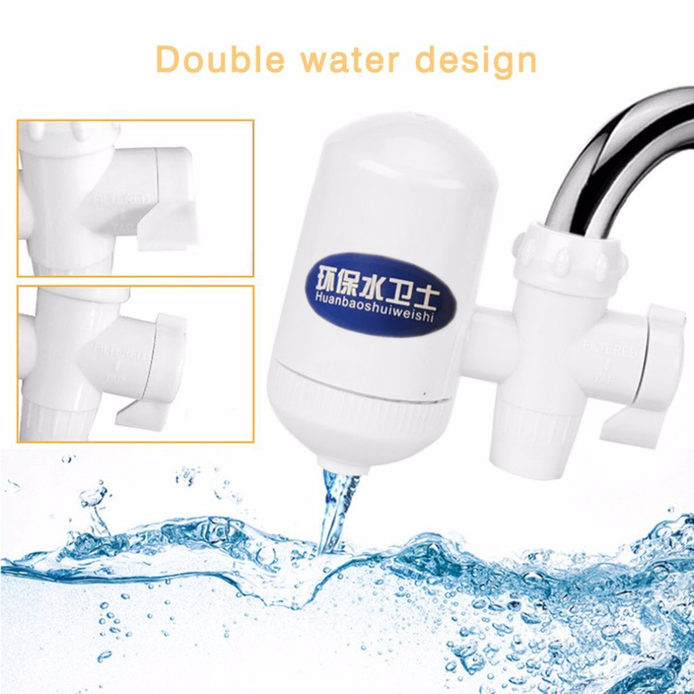 Kitchen Water Filter Faucet Healthy Ceramic Cartridge Tap Purifier Cleanable With Switches Easy To Install Home Supplies 6L/min water filter home kitchen health healthy ceramic cartridge tap faucet water filter purifier high technology white
