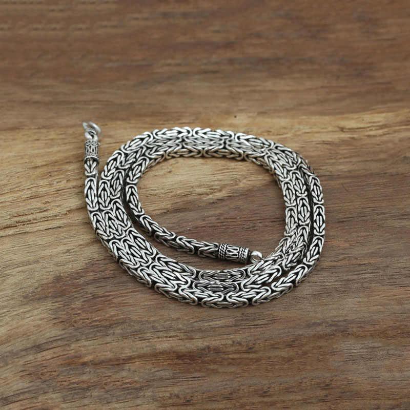 Di marca di Vendita Calda Piazza vita di pace della collana 100% catena in argento 925 collana di modo delle donne e gli uomini gioielli multa g19
