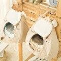 Algodão cama de bebê pendurado saco de armazenamento sacos de recém-nascidos berço berçário brinquedo organizador diaper stacker para playard berço bedding gêmeos do bebê