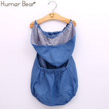 Humor Bear Baby Girls Clothing Fashion Baby Casual Cowboy Baby Boy Girl Rompers Baby Clothing Girls Birthday Party Jumpsuits cheap COTTON Microfiber Patchwork Hooded Covered Button Unisex Sleeveless BHY050 Fits true to size take your normal size Cotton Spandex