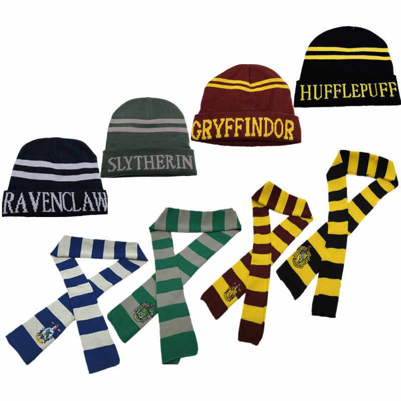 Nón Quan Hệ Nhà Gryffindor Slytherin Hufflepuff Ravenclaw Bộ Đội Khăn Choàng Cổ Trang Phục Hóa Trang Hermione Nam Nữ Cậu Bé Gái Scarfs