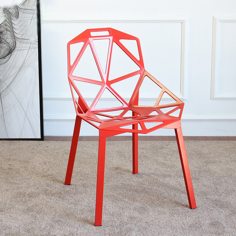 все цены на Modern Design Aluminium Dining Chair Meeting Chair Popular stackable outdoor leisure chair Loft Cafe meeting Chair Nice design