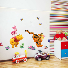Winnie the Pooh Bear Tiger wall stickers for kids rooms