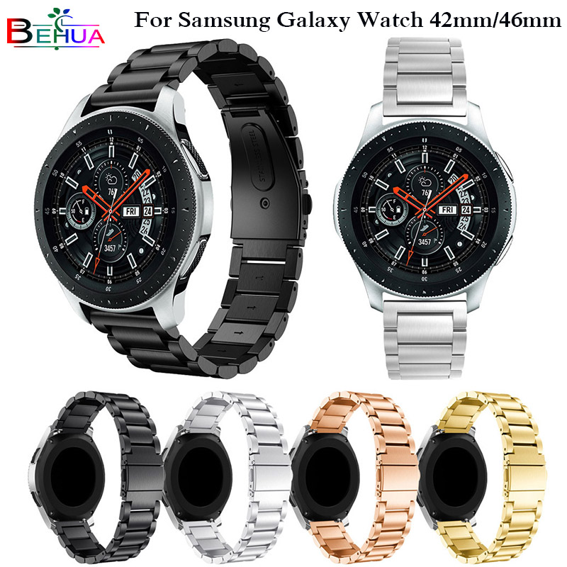 Luxury Stainless Steel Watchband Replacement Strap For Samsung Galaxy Watch 42mm/46mm watchband samsung s3 s2 frontier strap стоимость