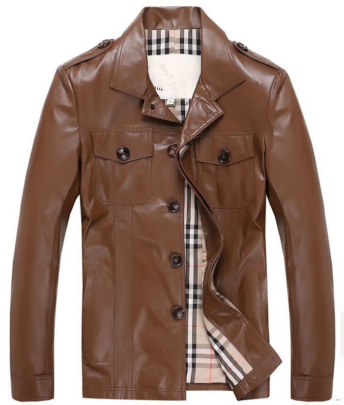 Aliexpress.com : Buy Fashion Brand Men's Leather Jackets Casual ...