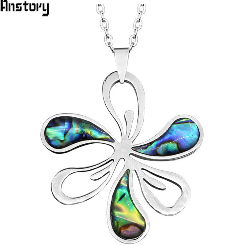 Personality Stainless Steel Pissenlit Flower Pendant Shell Necklace High Quality Fashion Jewelry