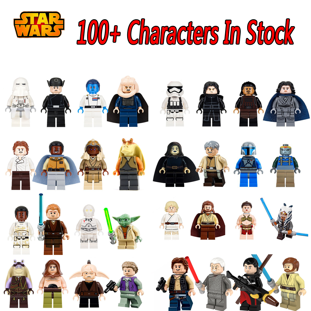Single Sale Malakili Jar Jar Binks K3PO Star Wars 75098 Action DIY Lando Han solo Grand Figures Building Blocks Kids Gifts Toys single sale star wars rogue one k 2so droid robot sw782 assemble minifig building diy blocks kids toys