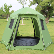 5-8 person Automatic Tent party tents beach yurt internal space Large c&ing tent family party canvas c&ing tents pergola & Canvas Tent Promotion-Shop for Promotional Canvas Tent on ...
