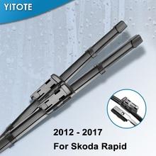 YITOTE стеклоочистителей для Skoda Rapid Fit кнопочные рычаги 2012 2013