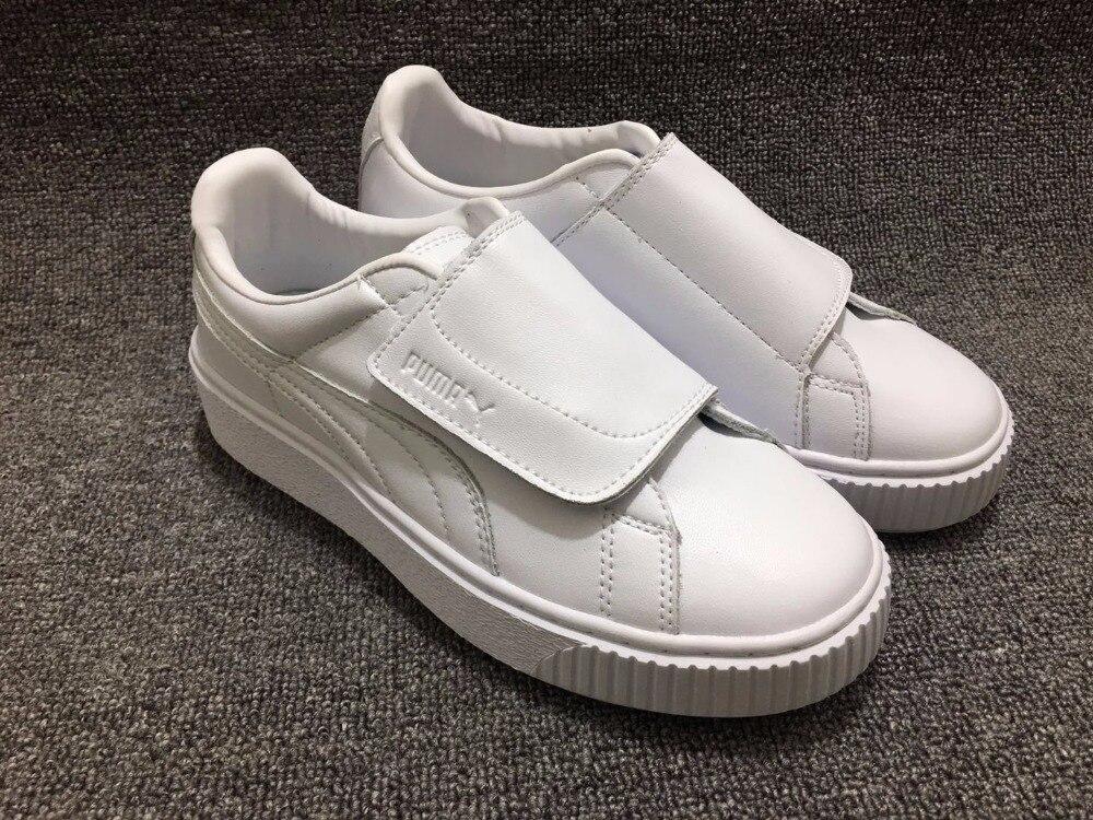 PUMA Rihanna Womens Original PU Strap Platform Satin Badminton Shoes Size35.5-40